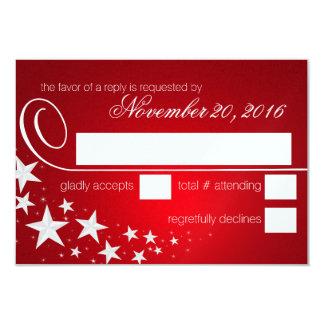 Under the Stars Red Response Card 9 Cm X 13 Cm Invitation Card