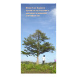 under the tree personalized photo card