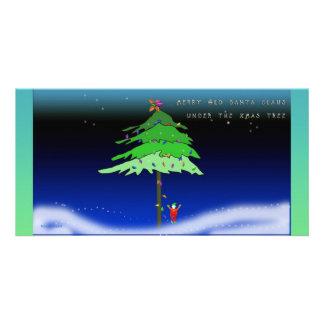 Under the Xmas Tree Personalised Photo Card