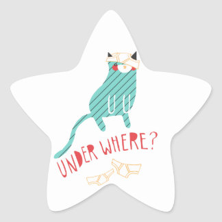 Under Where? Star Sticker