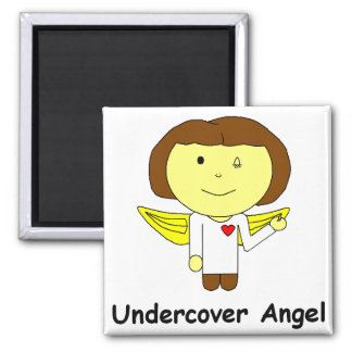 undercover angel square magnet