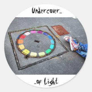 Undercover of Light - Paris Round Sticker