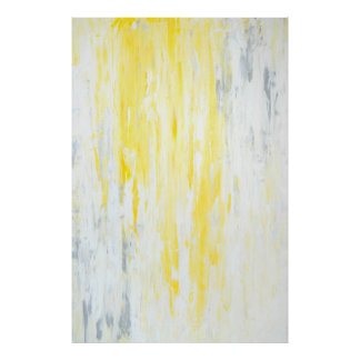 'Underestimated' Grey and Yellow Abstract Art Poster