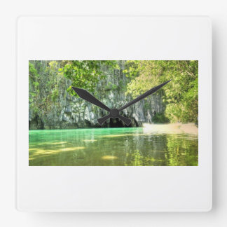 Undergound River Philippines Square Wall Clock