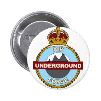 Underground Air Force 6 Cm Round Badge