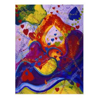 Underground – Crimson & Iris Hearts Postcard