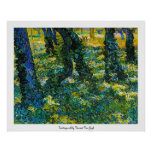 Undergrowth by Vincent Van Gogh Poster