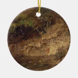 Undergrowth, c.1821 (oil on paper on board) round ceramic decoration