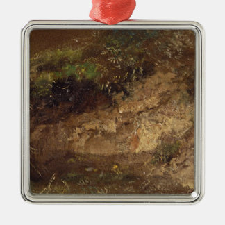 Undergrowth, c.1821 (oil on paper on board) Silver-Colored square decoration