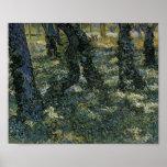 Undergrowth Van Gogh Fine Art Poster
