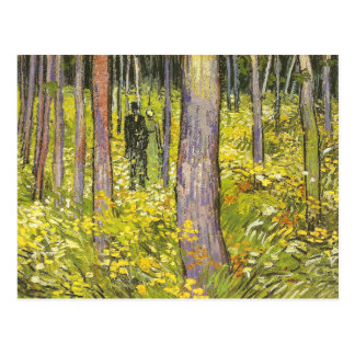 Undergrowth with Two Figures Van Gogh Fine Art Postcard