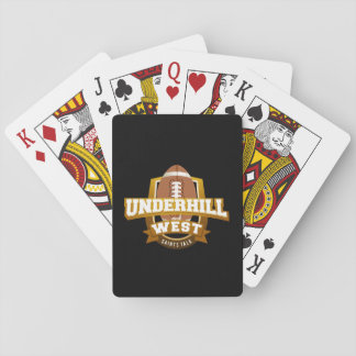 Underhill and West playing cards
