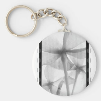 Underneath Flowers - Infrared B&W Basic Round Button Key Ring