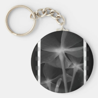 Underneath Flowers - Infrared B&W Negative Basic Round Button Key Ring