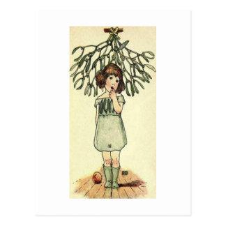 Underneath the Mistletoe Postcard
