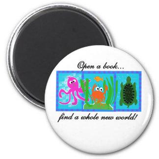 Undersea Adventure Open a Book Magnets