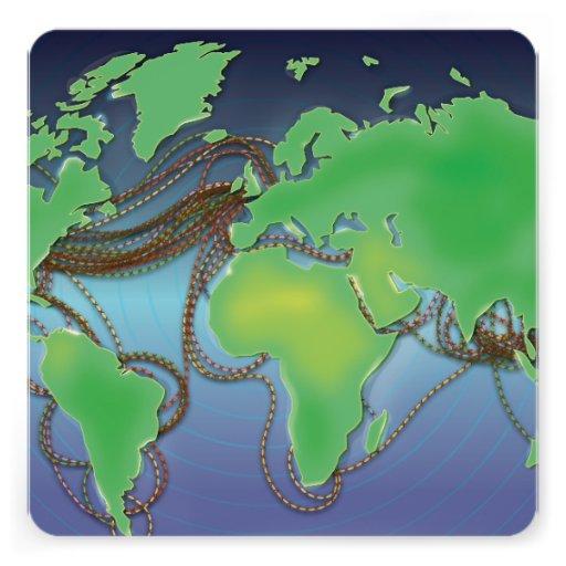 UnderSea Communication wires Personalized Invite