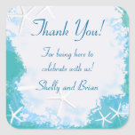 Undersea Stars Thank You Favour Label Square Sticker