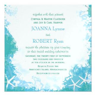 Undersea Stars Tropical Wedding Invitation