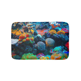 Undersea Tropical Coral Reef Bath Mat