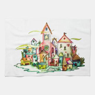 Undersea Village Tea Towel