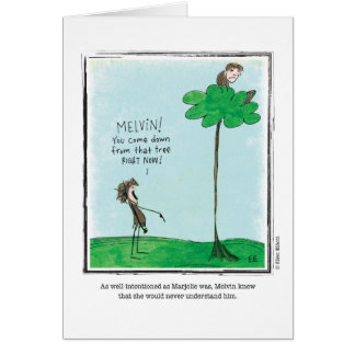 UNDERSTAND cartoon by Ellen Elliott Greeting Card