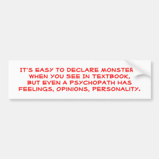 Understanding Psychology Bumper Sticker