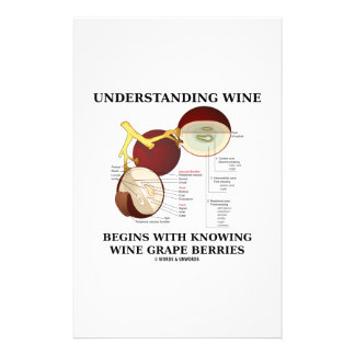Understanding Wine Begins With Knowing Wine Grape Personalized Stationery