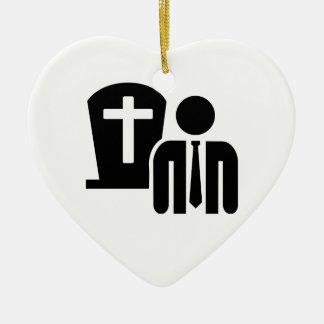 Undertaker Ceramic Heart Decoration