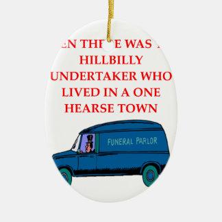undertaker joke ornament