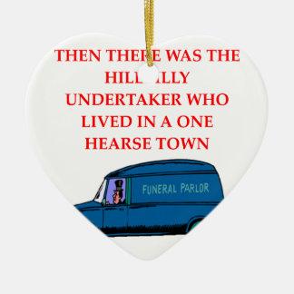 undertaker joke ornaments