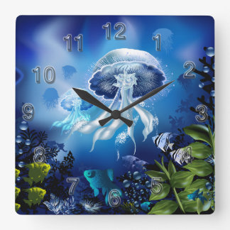 Underwater 6A Wall Clocks Numerals Options