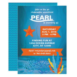 Underwater Adventure Party Invite