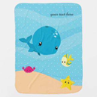 Underwater animals baby blanket
