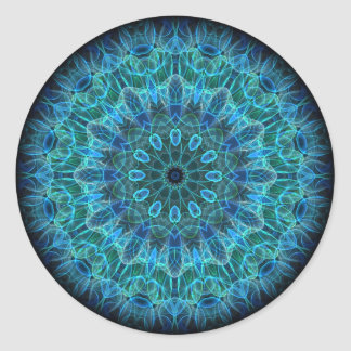 Underwater Beauty kaleidoscope Classic Round Sticker