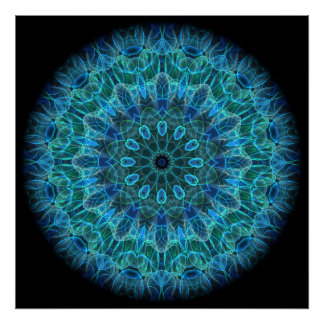 Underwater Beauty kaleidoscope Poster
