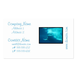 Underwater Beluga Whale Business Cards