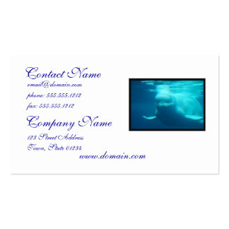 Underwater Beluga Whale Business cars Double-Sided Standard Business Cards (Pack Of 100)