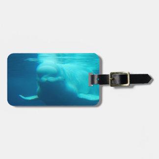 Underwater Beluga Whale Luggage Tag