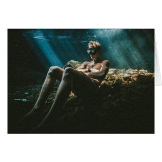 Underwater Blond Card