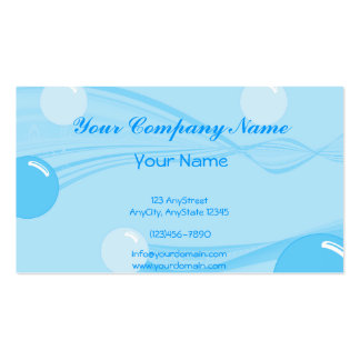Underwater Bubbles in Blue Business Card Template