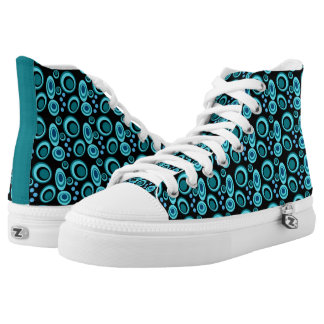 Underwater Bubbles Retro Circles High Tops