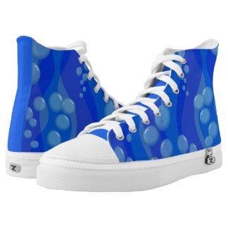 Underwater Cartoon Bubbles Printed Shoes