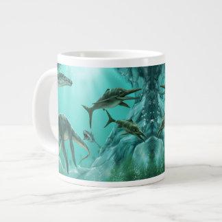 Underwater Dinosaur 20 Oz Large Ceramic Coffee Mug Jumbo Mug
