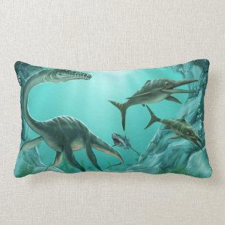 Underwater Dinosaur Lumbar Pillow