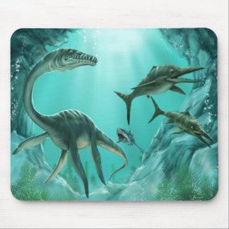 Underwater Dinosaur Mouse Pad
