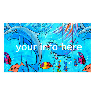 underwater dolphins business card pack of standard business cards