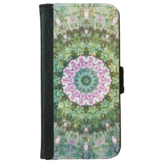 Underwater Fantasy Kaleidoscope, Lilac and Green iPhone 6 Wallet Case