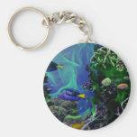 Underwater Fantasy World of fish Basic Round Button Key Ring