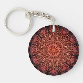 Underwater fire kaleidoscope key ring